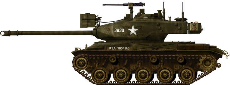 M41 Walker Bulldog Light Tank (1951) U.S.A. - 5500 built