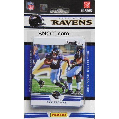 2012 Score Baltimore Ravens Factory Sealed 12 Card Team Set Including Joe Flacco, Ray Lewis, Ray Rice, Ed Reed, Haloti Ngata, Anquan Boldin, Terrell Suggs, Torrey Smith, Ricky Williams, Bernard Pierce, Courtney Upshaw and Tommy Streeter. by 2012 Score. $7.99. 2012 Score Baltimore Ravens Factory Sealed 12 Card Team Set Including Joe Flacco, Ray Lewis, Ray Rice, Ed Reed, Haloti Ngata, Anquan Boldin, Terrell Suggs, Torrey Smith, Ricky Williams, Bernard Pierce, Courtney Upshaw and...