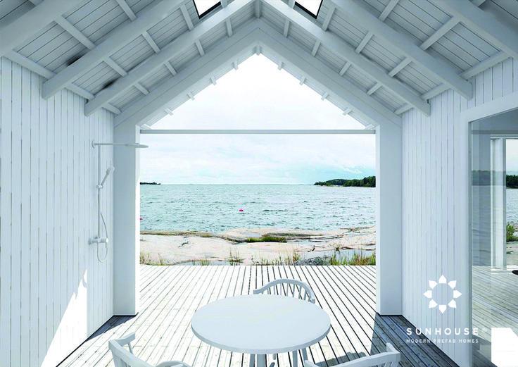 Sunhouse beach house with a view to the Baltic sea. Architect: Jarkko Könönen. www.sunhouse.fi
