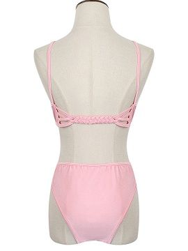 Shop Pink Strappy Bikini Top And Bottom from choies.com .Free shipping Worldwide.$11.9