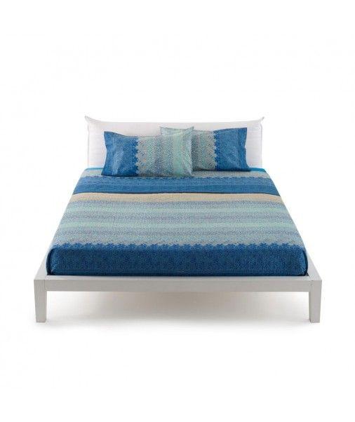 Bassetti Granfoulard completo lenzuola matrimoniale APPIANI 3 Blu puro cotone