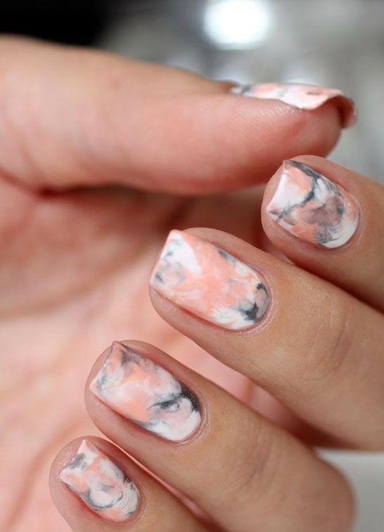 marble theme nail art!