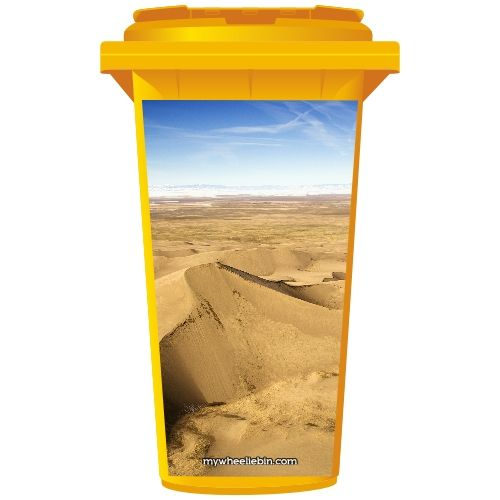 Desert Sand Dunes Wheelie Bin Sticker Panel