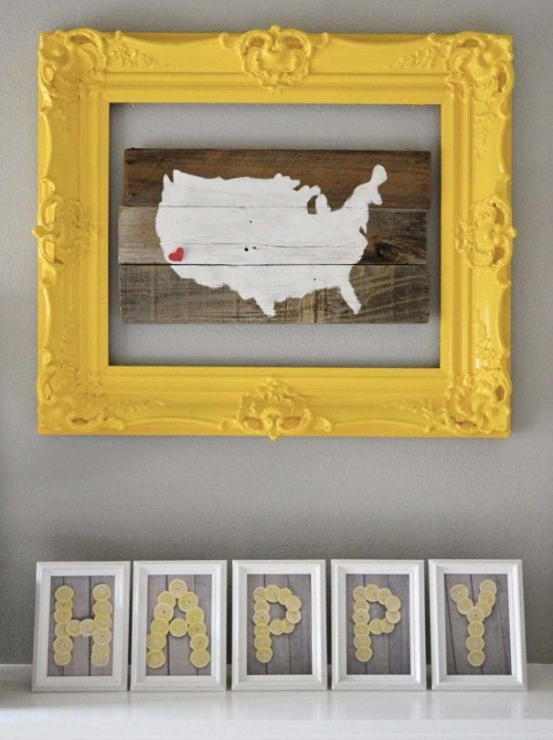 Typography Mantel Art (using lemons) by Little Miss Momma!