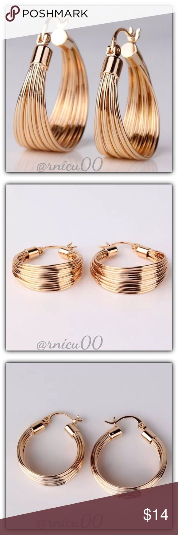 """🆕18K Yellow Gold 1"""" Perfect Daily Hoop Earrings! Who doesn't love A Perfect Pair of Hoop Earrings? Gorgeous Style to wear Everyday, Matches Everything, not heavy, & Exceptional Quality & Price! Also make a perfect Gift!👌  🔆100% of my Profit is Being donated to Multiple Sclerosis (MS) Association - Please see last pic for full Manufacturers Description - Will be shipped securely in Jewelry Box  *NO TRADES *Prices are FIRM-Listed at LOWEST Price Unless BUNDLED! *Sales are Final-Please Read…"""