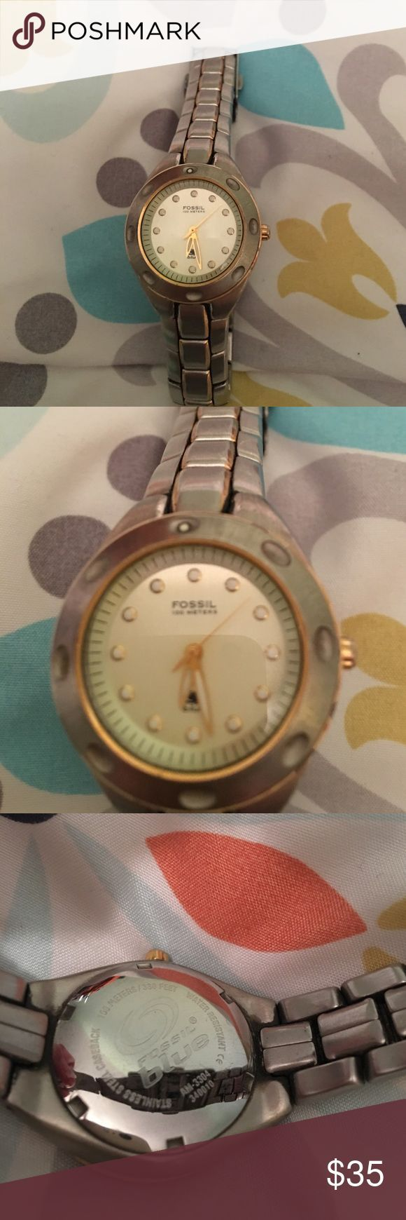 cool Montre pour femme : Fossil Blue women's watch Fossil Blue linked women's watch. Good conditi... Check more at http://flashmode.tn/tendance/mode/montre-femme/montre-pour-femme-fossil-blue-womens-watch-fossil-blue-linked-womens-watch-good-conditi/