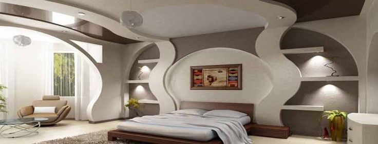 Interior Design and Modern Plasterboard Constructions, Curved and creative Interior, modern false ceiling design ideia | UK-Ceiling Design