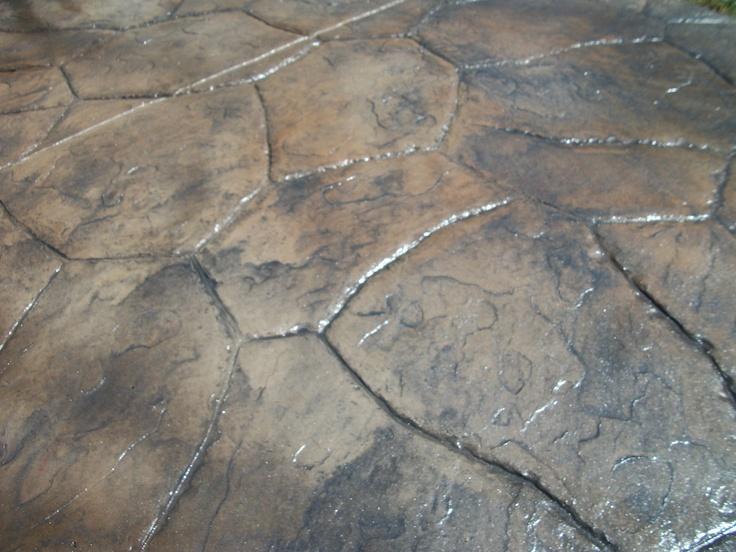 Santa Fe Random Stone Stamped Concrete Patio Fordson