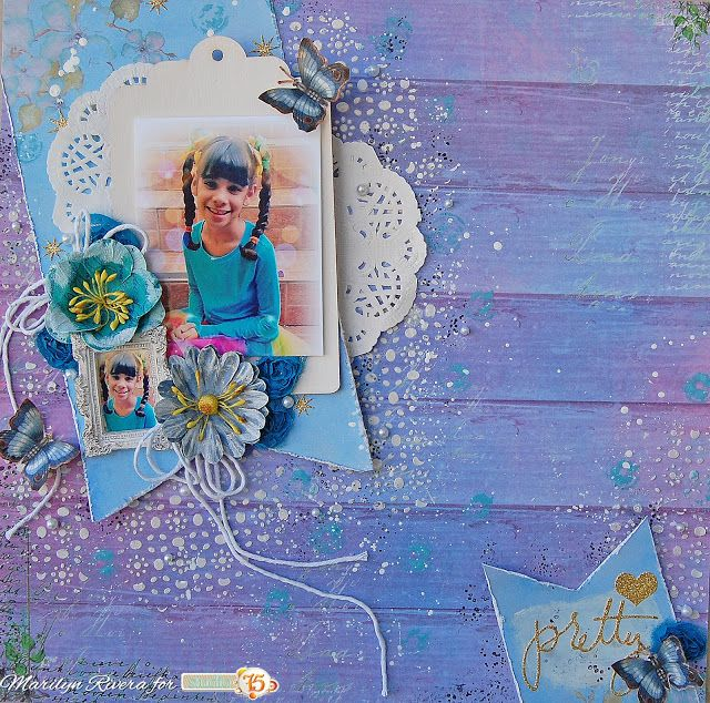 A Layout with the Lavender Morning collection.