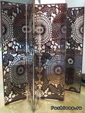 arched wood folding screen by enrico