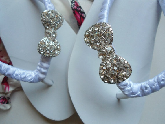 Wedding Flip Flops, Wedges by Adriana dos Santos