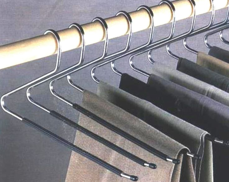 Keep your trouser creases wrinkle free. Set of 12 hangers. No need to remove the hanger from the rack with these open end hangers. Easy to hang slacks and sure grip arm keep them from slipping off