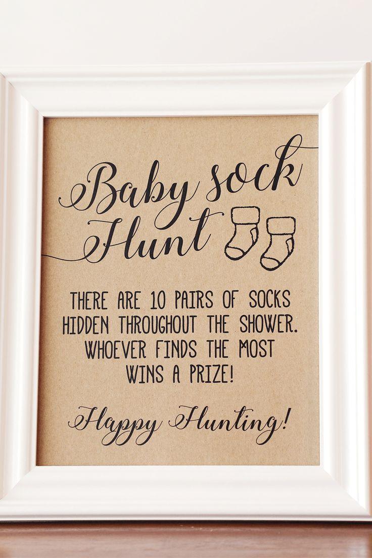 Baby Sock Hunt Baby Shower Game, Baby Sock Hunt