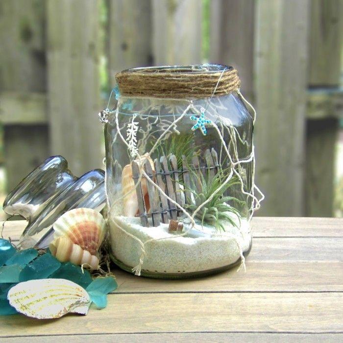 diy ideen einmachgläser terrarium sommerliche dekoideen