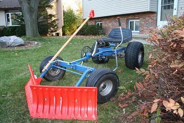 pedal powered snow plow - with plastic blades