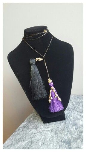 Hand made necklace  with silver tassels and gold plated beads.  Avaliable  for orders : www.accessoiresduluc.com