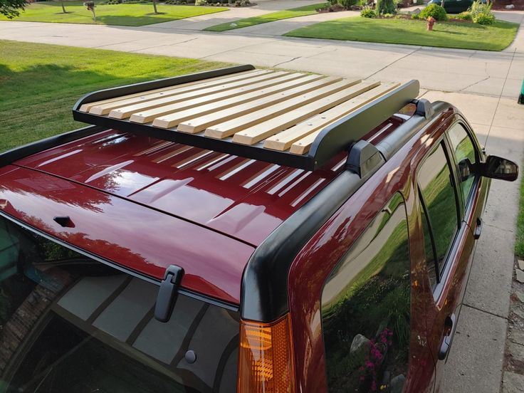 DIY Wood Roof Rack in 2020 Roof rack, Wood roof, Luggage