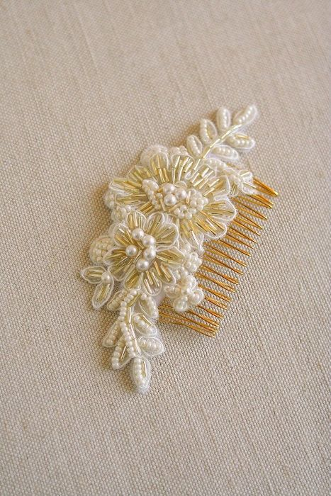 Bridal Hair Comb Beaded Lace Hair Comb Lace Bridal от BelleBlooms