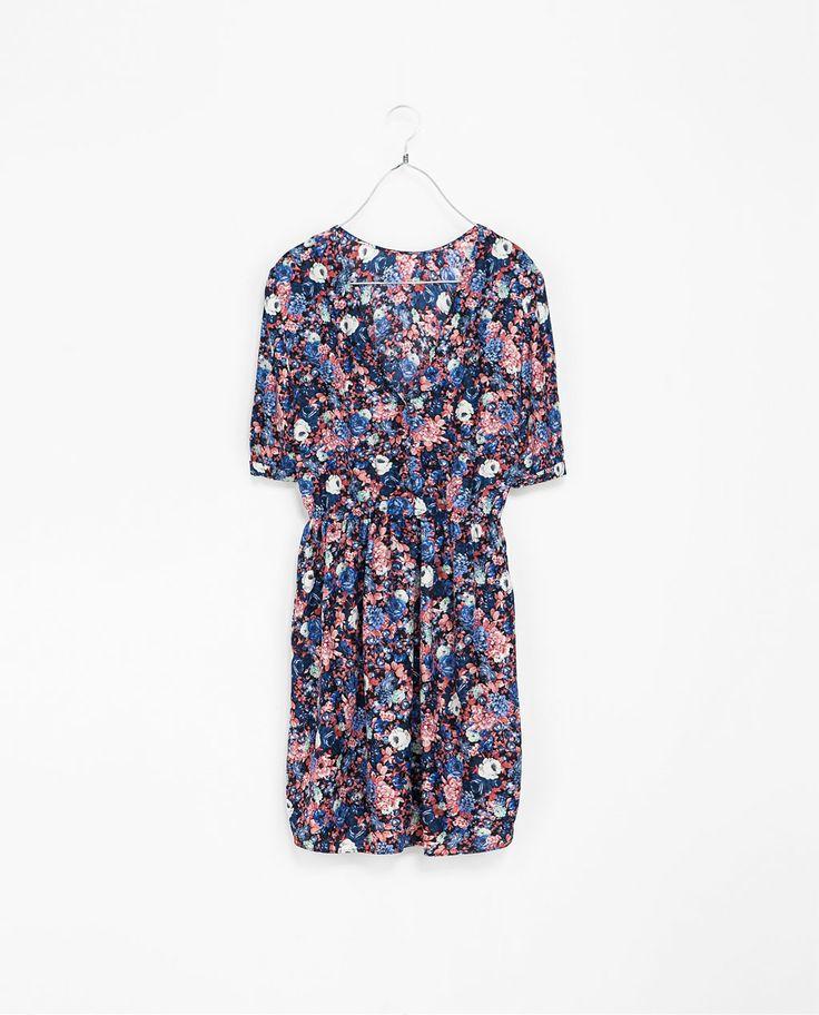 Image 5 of FLORAL DRESS WITH BUTTONS AT THE BACK from Zara https://www.chicfy.com/vestido-zara-vvvvvv/vestido-zara-talla-m-ideal-invierno