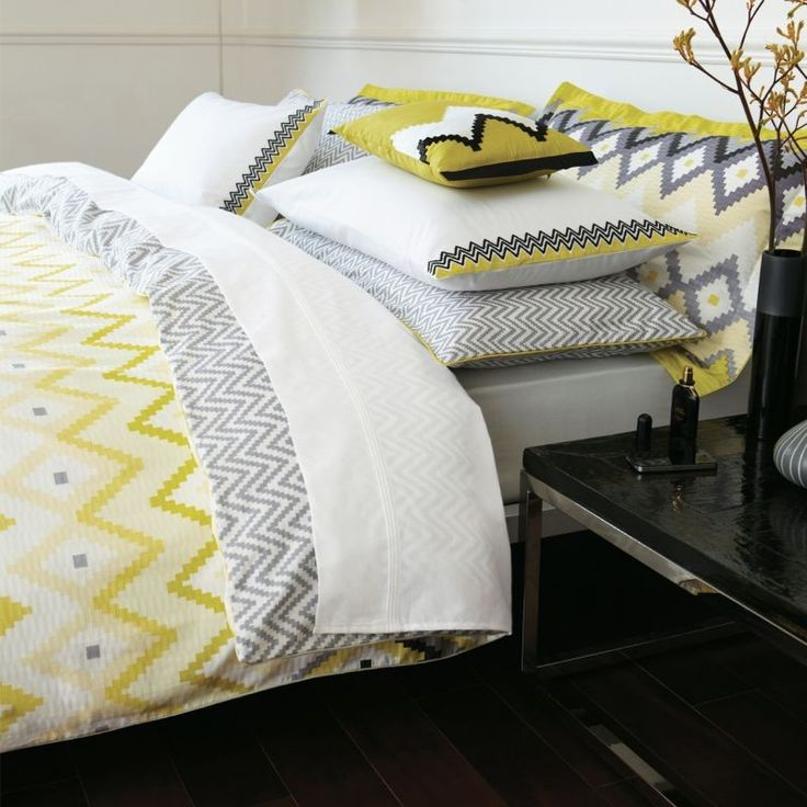 Altuza Bed Linen | Yellow and Grey Bedding | Contemporary Bed Sets at Bedeck Home