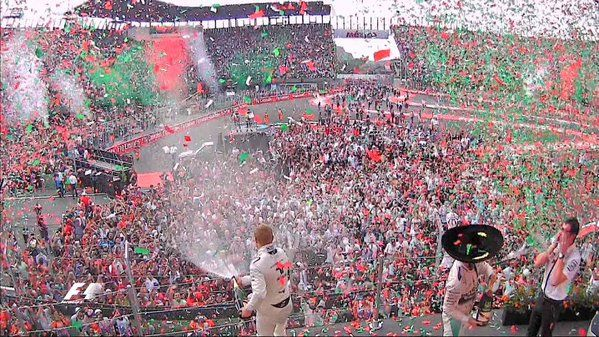Just an amazing scene on the podium today from Mexico!