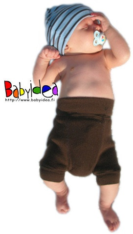 Pantaloni scurti din lana merinos - protectie pentru scutece - Babyidea