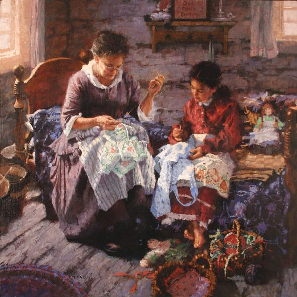 Michael Dudash - 'The Sewing Lesson'