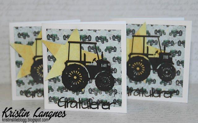 Jeg ble for lenge siden veldig inspirert av Katrine sine lekre traktor-kort . Jeg har laget noen enklere varianter av disse, men med samme...