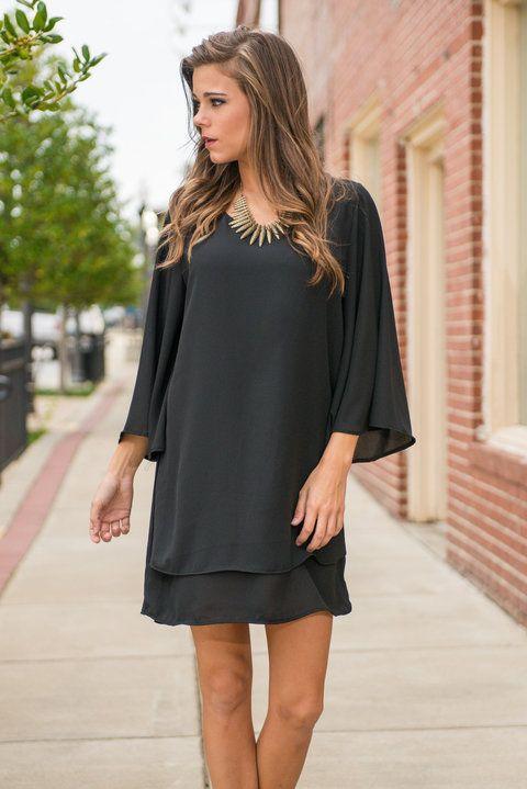Ladies Night Dress, Black
