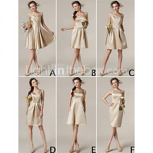 robes match genou longueur des robes de demoiselle d'honneur 6 modèles