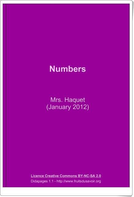 """Numbers"" (Libro interactivo de Inglés de Primaria)"