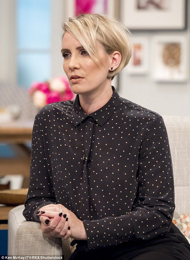 Happier than ever: Steps star Claire Richards was showered with compliments on social media after her appearance on Lorraine on Tuesday morning
