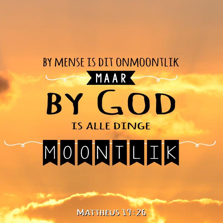 By God is alle dinge moontlik | matt 19:26 | #bybelvers