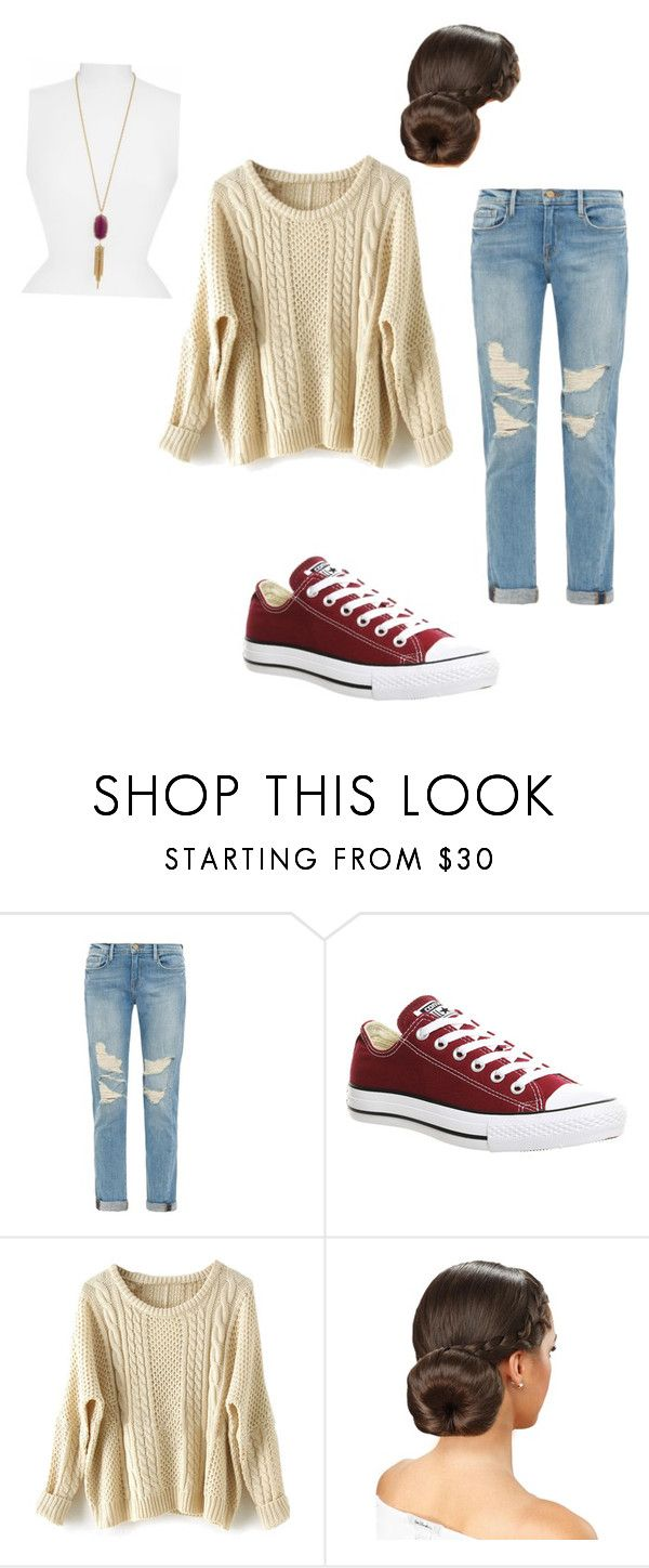 """Untitled #19"" by chloeprice02 ❤ liked on Polyvore featuring Frame Denim, Converse and Kendra Scott"