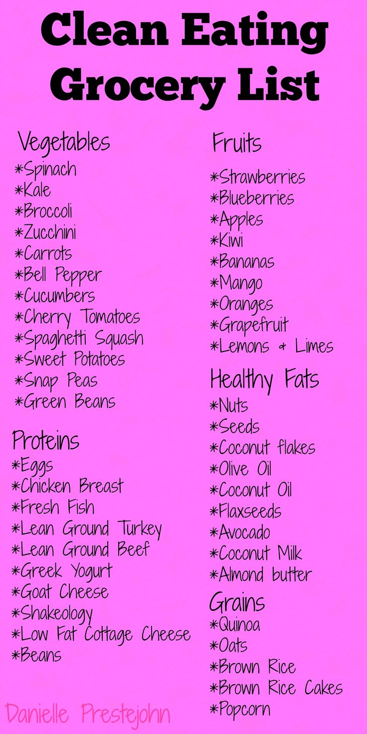 Making your clean eating easier with this handy clean eating grocery list.