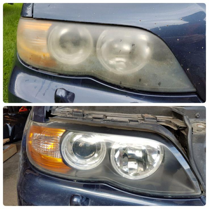 Finally restored my hazy headlights - 2004 X5 #BMW #cars #M3 #car #M4 #auto