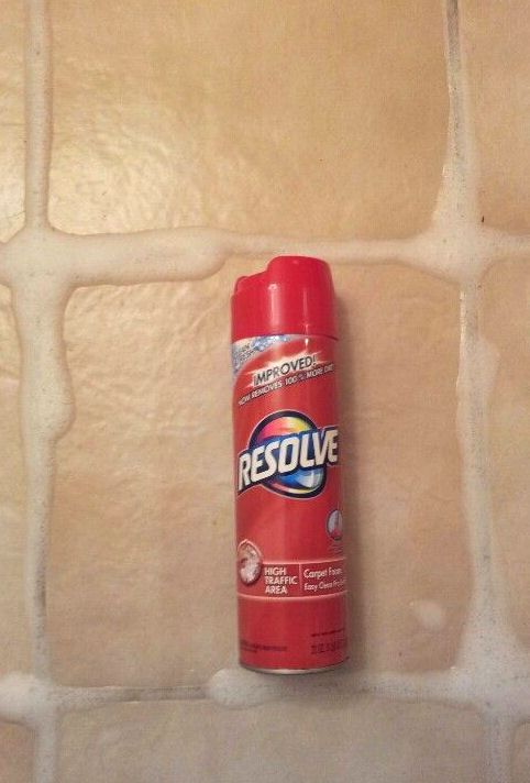 Best grout cleaner out there and its for carpet! Resolve carpet foam. Spray it…