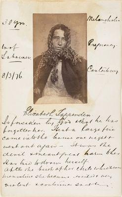 Photo of Elizabeth Tappenden, an Insane Asylum Patient, Who Believed God Had Forsaken Her, British, 1876