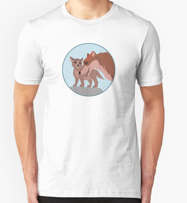 Elegant Father Wolf and Pup T shirt wolf wolves animals pup
