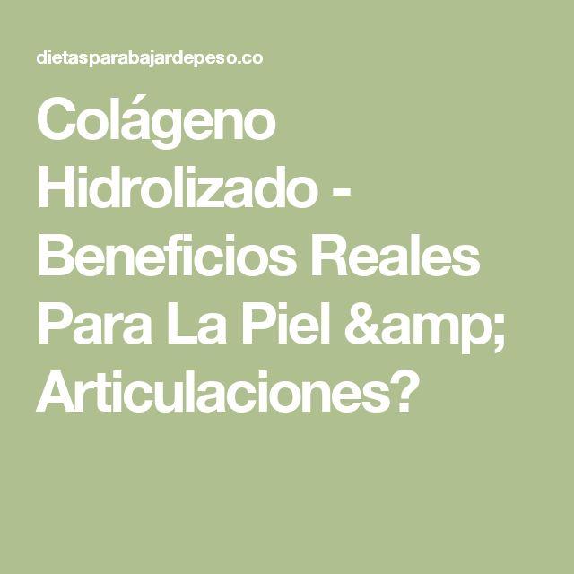 Colágeno Hidrolizado - Beneficios Reales Para La Piel & Articulaciones?