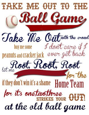 Take me Out to the Ball Game {Free Printable!}