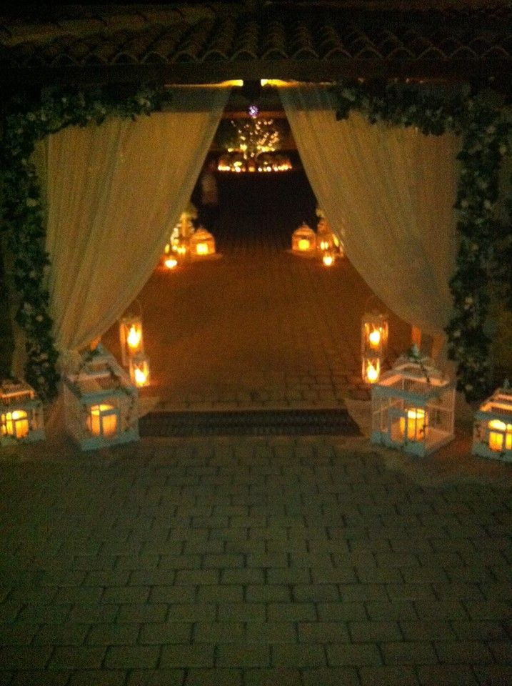 wedding entrance decor by Anna Remoudaki & Konstantina Grigoriou at Casa e Campo hospitaliti plus,..