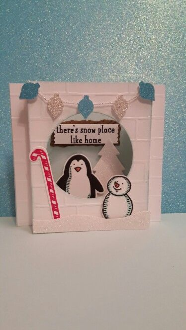 """My cute little penguin in his """"igloo sweet igloo""""!!  By Valerie Sanchez  2015"""
