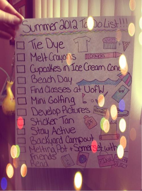 summer bucket list | Tumblr | Things I love :) | Pinterest