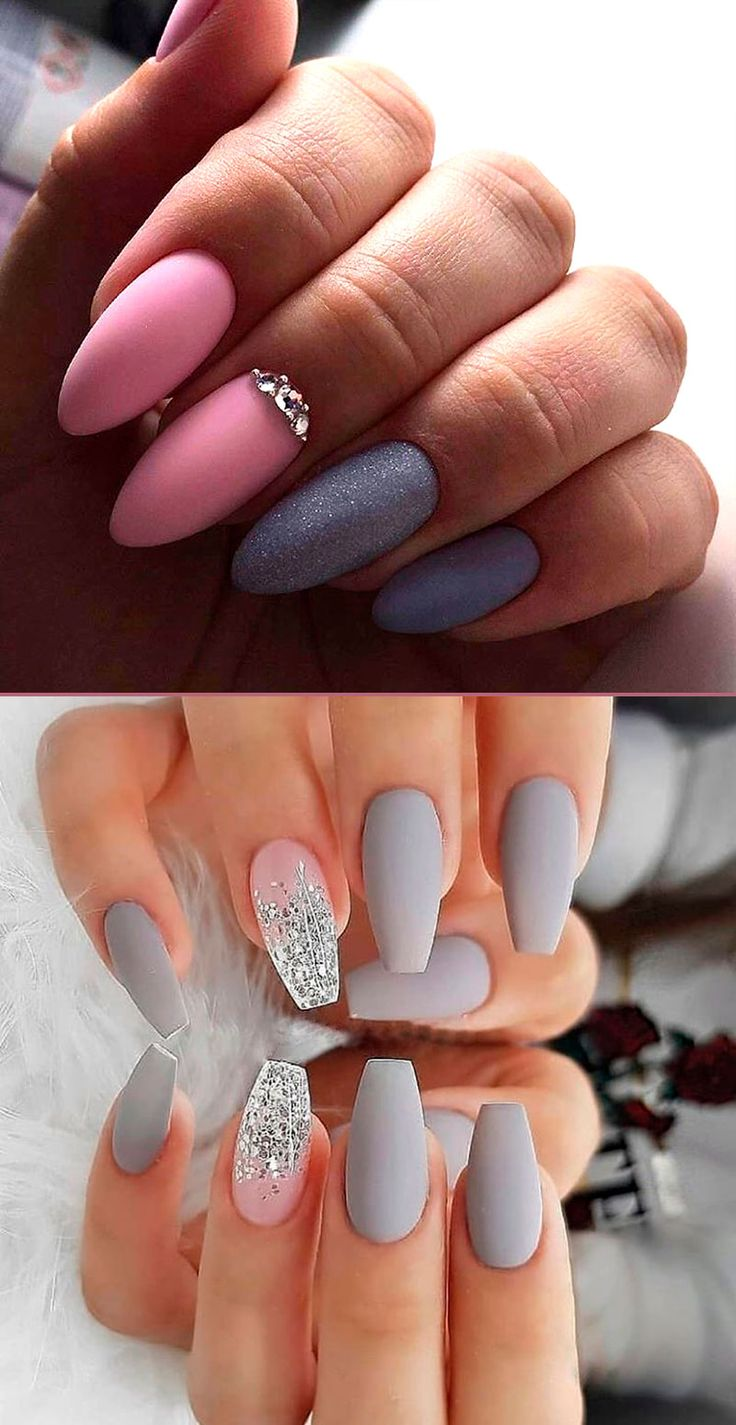 beautiful ombre and crystal glitter acrylic set | Ombre