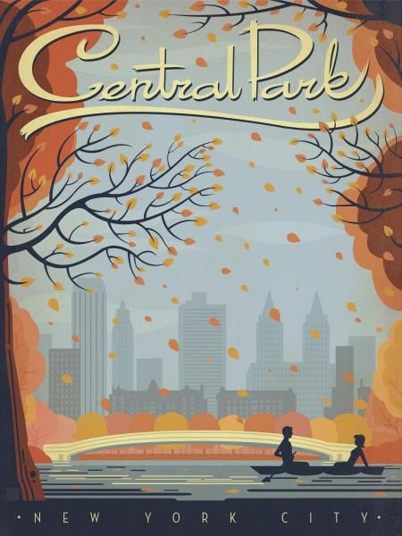 Anderson Design Group - Central Park NYC - Fine Art Print
