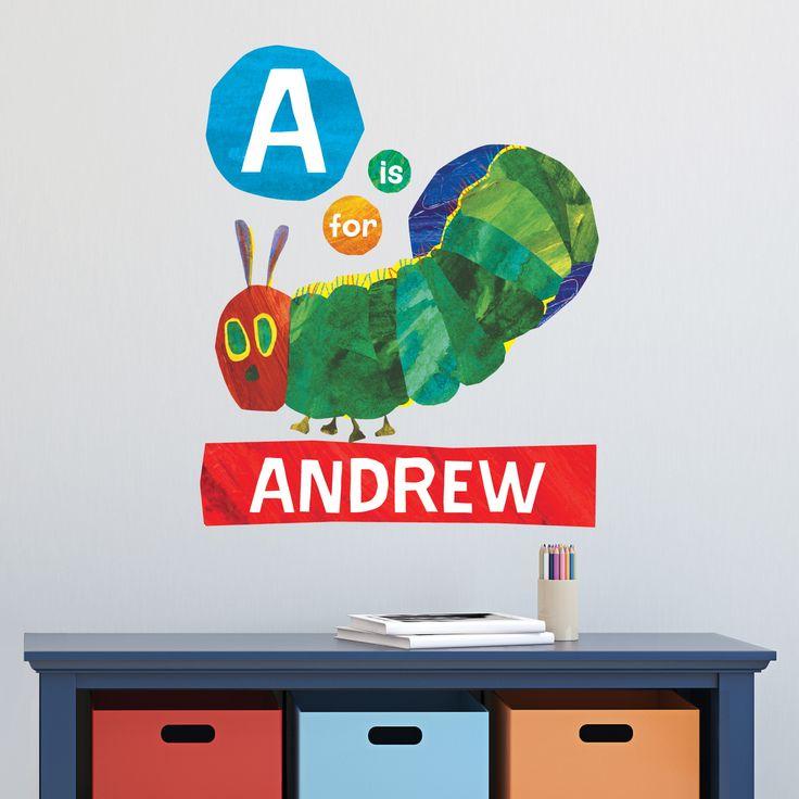 Hungry Caterpillar Wall Stickers Part   22: Very Hungry Caterpillar  Easy Move Canvas Decal Part 41