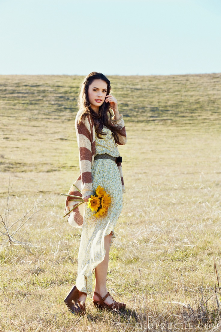 Throw a loose cardi over a flowy dress and pair with some wedges for a comfortable daytime ensemble. #ruche #shopruche