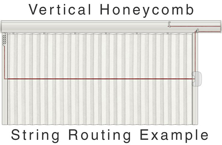 Vertical Honeycomb String Routing Example Hunter Douglas