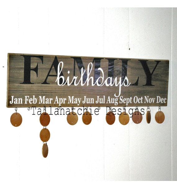Family Birthday Board  Birthday Board by TallahatchieDesigns